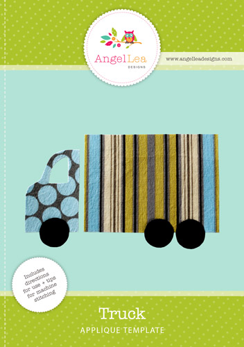 Applique corner applique design monster truck sketch embroidery design.