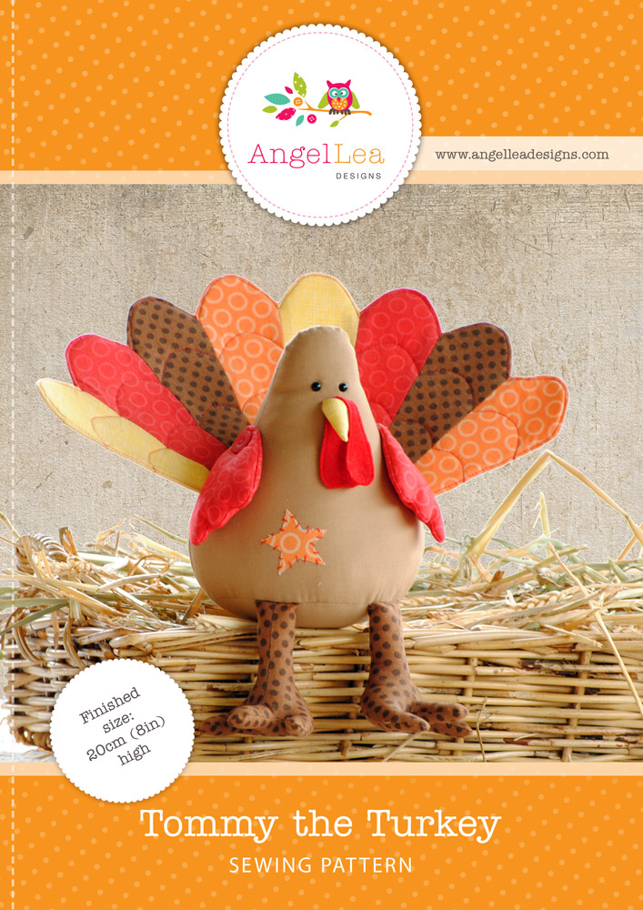 Tommy the Turkey Softie PDF Sewing Pattern