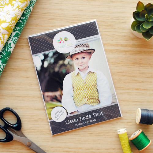 Little Lads Vest Sewing Pattern - HARD COPY