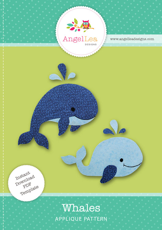 Whales Applique Template