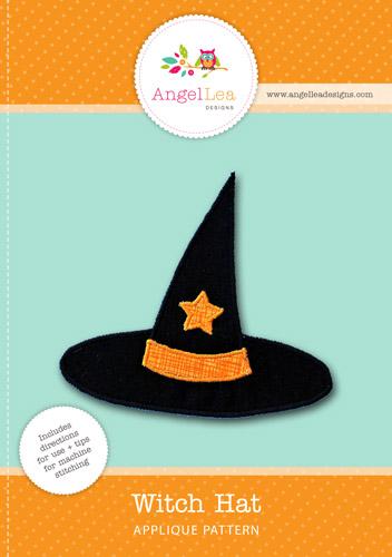 Witch Hat Applique Template - Angel Lea Designs