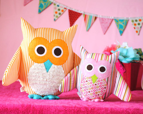Owl Softie PDF Sewing Pattern - Angel Lea Designs