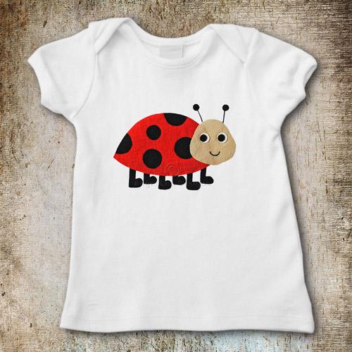 Ladybug applique template angel lea designs for T shirt designer plugin