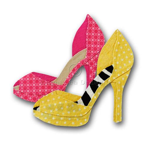 high heel shoe design template - high heel shoe applique template angel lea designs