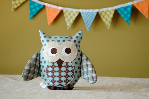Owl Soft Toy Sewing Pattern - HARD COPY - Angel Lea Designs