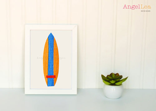 Surfboards Applique Template - Angel Lea Designs