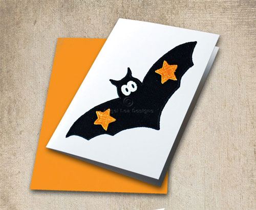 Bat applique template angel lea designs