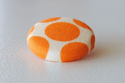 Fabric covered button tutorial step 8b