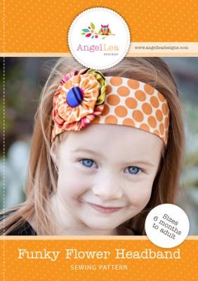 funky flower headband pattern
