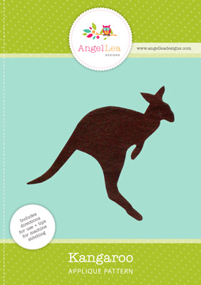 free kangaroo applique pattern