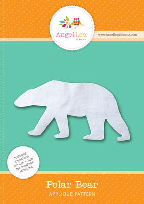 free polar bear applique pattern