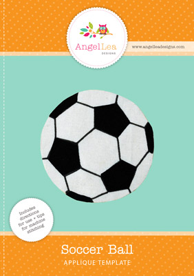 free soccer ball applique pattern