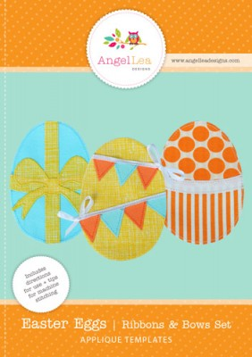 free easter eggs applique template