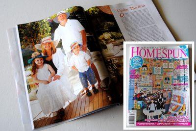 Homespun magazine feature - sunhats