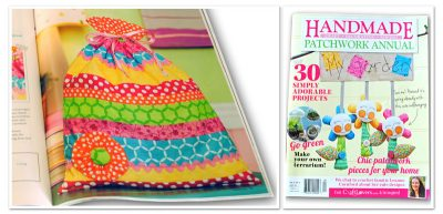 Handmade Magazine feature - drawstring bag pattern