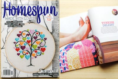 patchwork pouf feature Homespun magazine